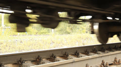 The railway. Freight cars, summer Stock Footage