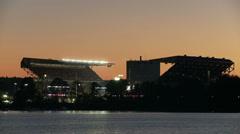 Football, Husky Stadium, University of Washington, Seattle Stock Footage