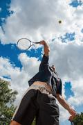 Tennis serve Stock Photos