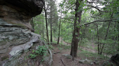 Garden of the Gods Park in Southern Illinois 1080 Stock Footage