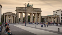 Brandenburg Gate, Berlin, Germany Stock Footage
