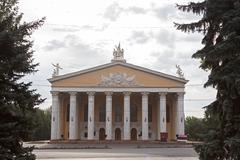 kyrgyz national academic opera and ballet theatre named after a. maldybaev. b - stock photo