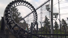 Roller Coasters, Amusement Parks, 2D, 3D - stock footage