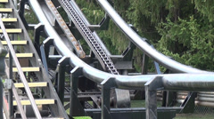 Roller Coaster Chains, Machines, Mechanical Stock Footage