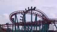 Stock Video Footage of Roller Coasters, Amusement Parks