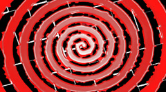 Hypnosis Spiral Red And Black Stock Footage