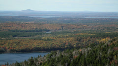 Lake in Acadia National Park, Maine Stock Footage