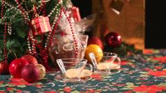 Tea and Christmas 1 - stock footage