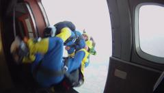 Skydive exit - stock footage
