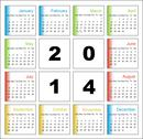 Stock Illustration of annual calendar design for 2014