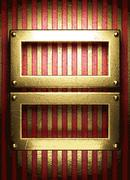 Stock Illustration of gold on red background
