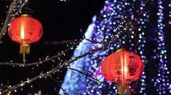 Chinese red lantern Stock Footage