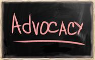 Stock Photo of advocacy blackboard concept