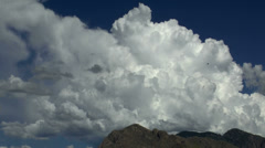 Cloud Pass Mountain Time Lapse Stock Footage