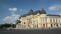 Revolution Square In Bucharest Stock Footage