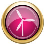 Magenta glossy icon - stock illustration