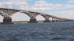 Saratov Volga Bridge 020 Stock Footage