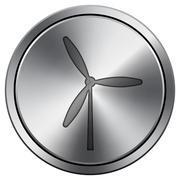 Shiny metallic icon - stock illustration