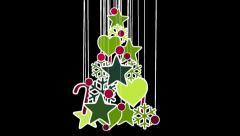 Christmas tree decoration loop alpha Stock Footage