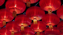 Chinese red lantern Stock Footage