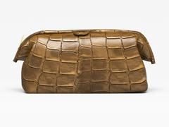 leather clutch - stock photo