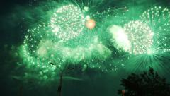 Holiday fireworks celebration Stock Footage
