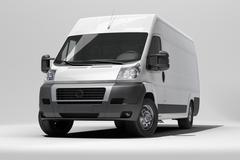 White commercial van Stock Photos