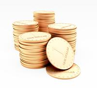 Stacks of coins Stock Photos