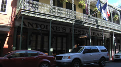 Antoine's Famous Restaurant, New Orleans Stock Footage