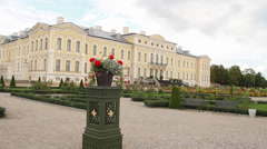 Baroque palace - stock footage