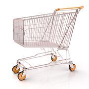 Shopping cart isolated Stock Photos