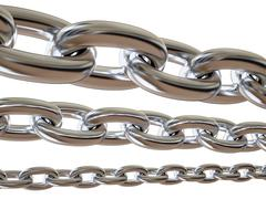 metal chain isolated - stock photo