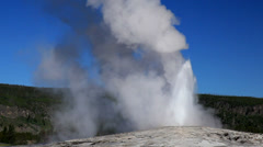 Yellowstone National Park Old Faithful National Park 06-27-2013 Stock Footage