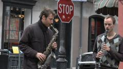 Street Band In the Heart of New Orleans Stock Footage