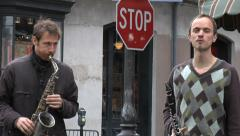 Four Piece Street Band - French Quarter - New Orleans Stock Footage