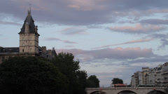 SUNSET WITH CLOUDS IN PARIS Stock Footage