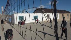 Volleyball in Tajik settlement Stock Footage