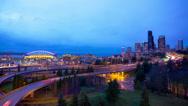 Seattle City Lights Stock Footage