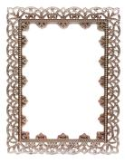 An empty metal frame isolated on white Stock Photos