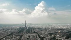 4K Paris Cityscape timelapse overview of the city Stock Footage