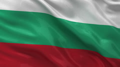 Flag of Bulgaria seamless loop Stock Footage
