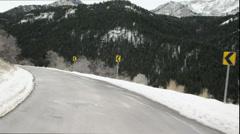 Alpine Drive one UHD Stock Footage
