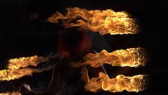 Fire performer, Slow Motion Stock Footage