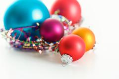 Stock Photo of christmas: ornaments on white background