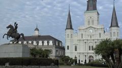 Jackson Square, New Orleans Louisiana Stock Footage