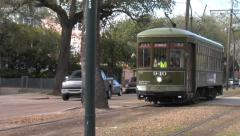 Historic St Charles Trolley - New Orleans 1 Stock Footage