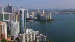 Downtown Miami Shore Northbound2 - stock footage