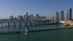 Downtown Miami Skyline Southbound Stock Footage