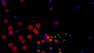 Stock Video Footage of circle sparkling colors