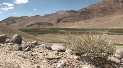 Arid landscape in Tajikistan - stock footage